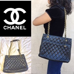 ❤️CHANEL LAMBSKIN QUILTED TOTE BAG